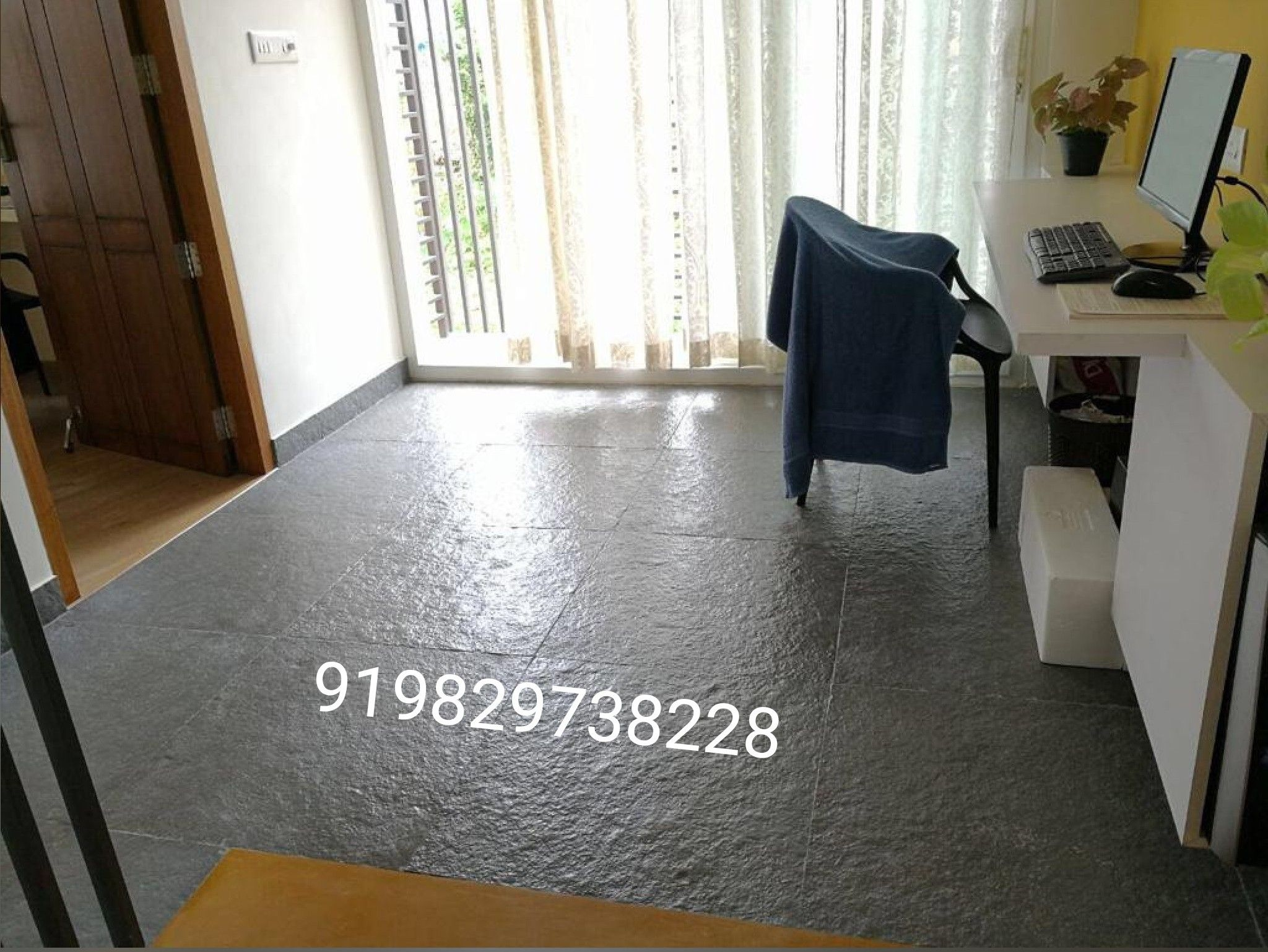 kota stone design in room